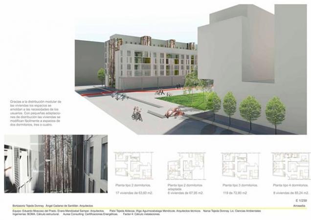 Propuesta VPO pamplona 1 tipo viviendas