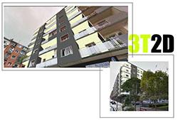 Fotomontaje para visualizar nueva fachada.