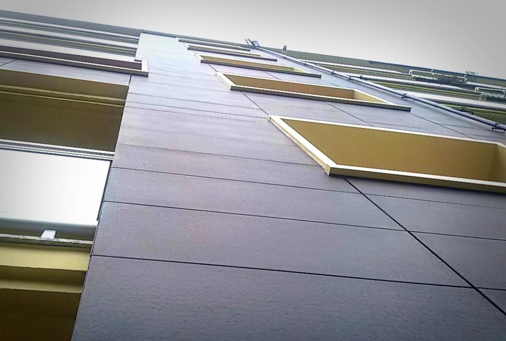 Vista de la fachada ventilada