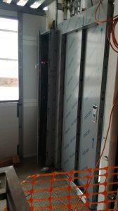 colocación ascensor