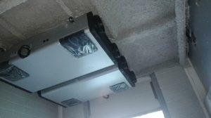 colocación maquinas ventilaicón