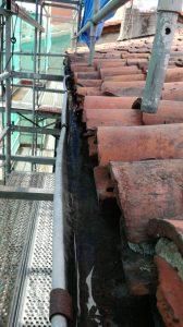 Canalón antiguo de cubierta