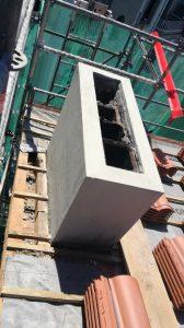 Reconstrucción de chimenea