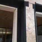 Detalle fachada nueva y remates de huecos